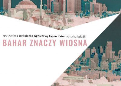 Spotkanie z dr Agnieszką Aysen Kaim plakat