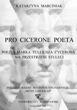 Pro Cicerone Poeta – okładka