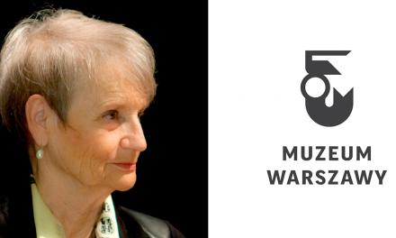 Prof. Maria Poprzęcka przewodnikiem w Muzeum Warszawy