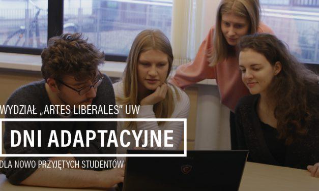 Dni adaptacyjne dla nowo przyjętych studentów