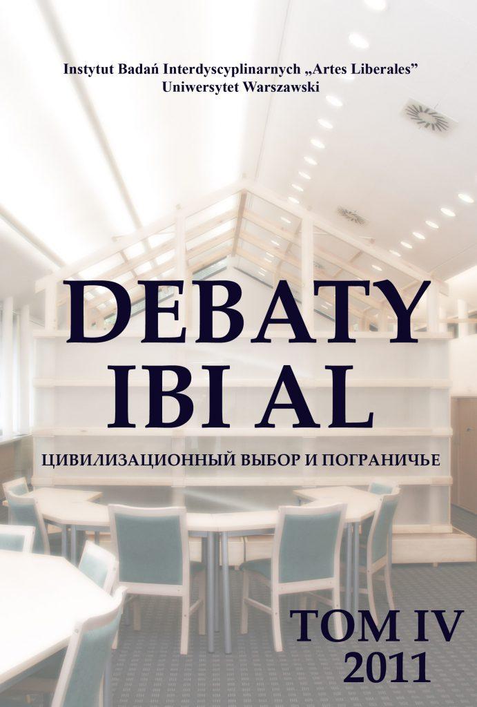 Debaty tom IV