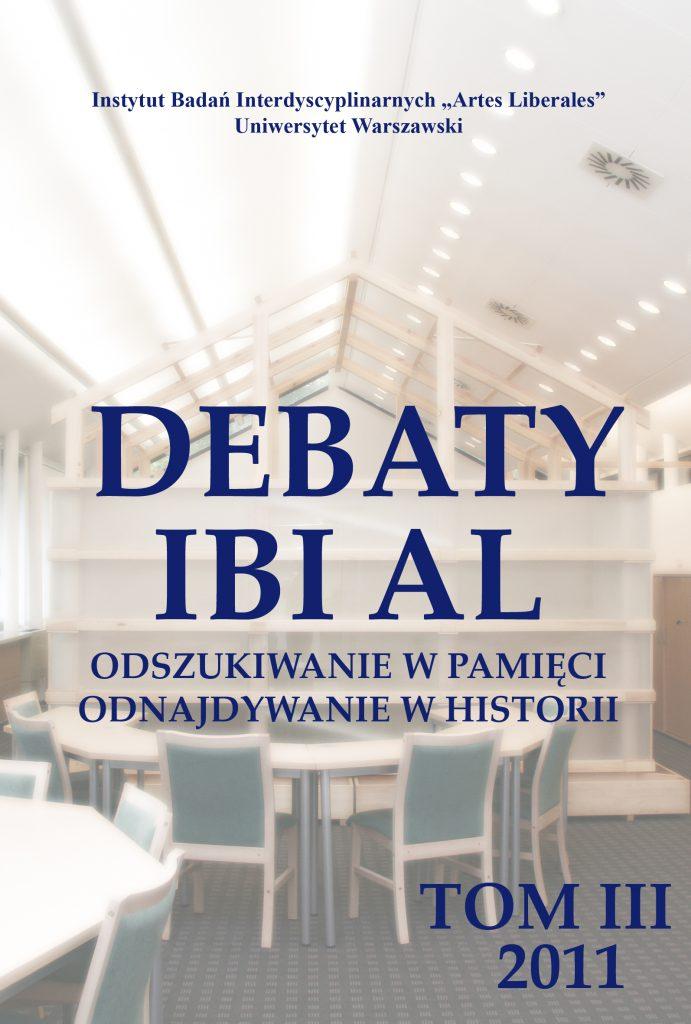 Debaty tom III