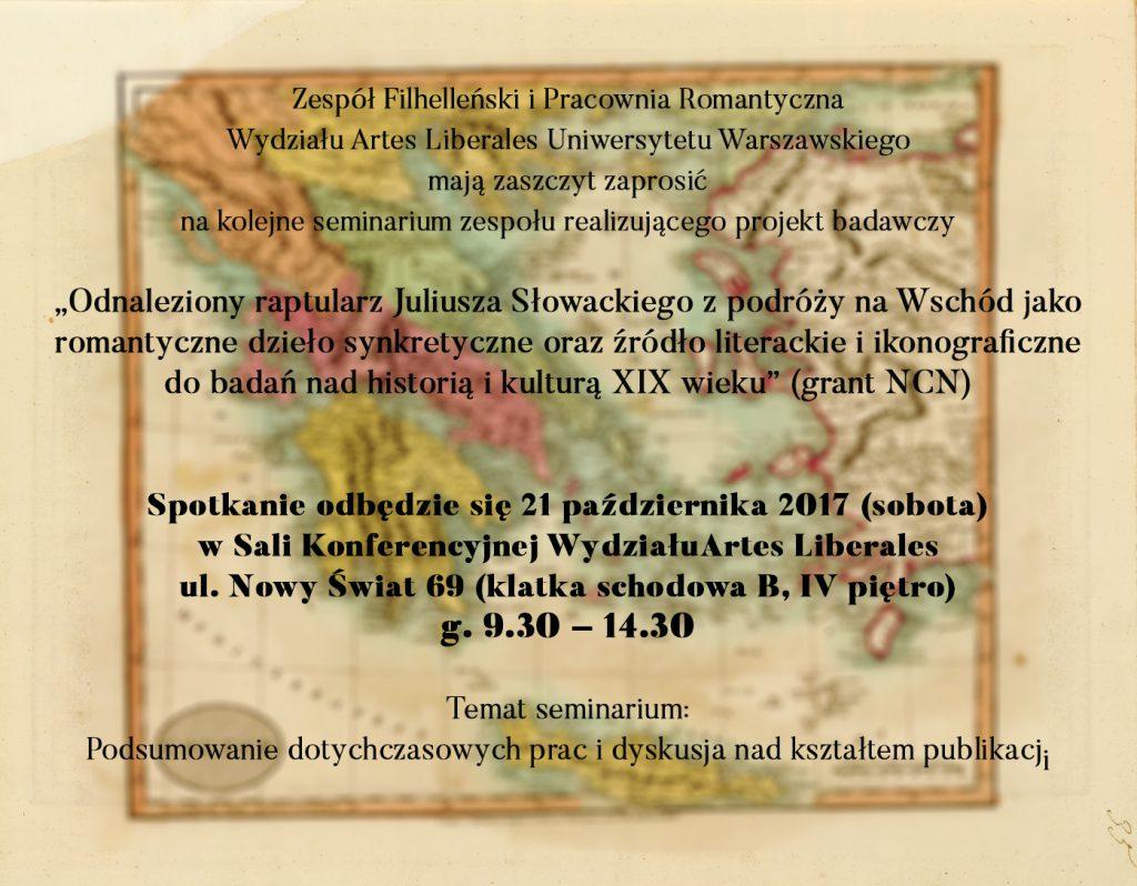 Słowacki, spotkanie, 21 października, plakat