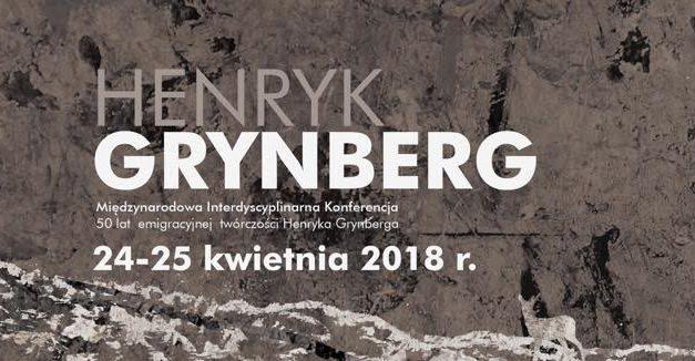 "CFP: Konferencja ""Henryk Grynberg:  Half a Century of Émigré Writing"""