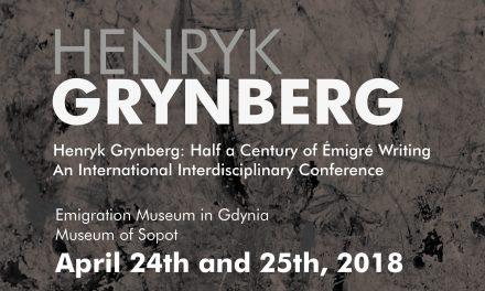 "Conference: ""Henryk Grynberg: Half a Century of Émigré Writing"""