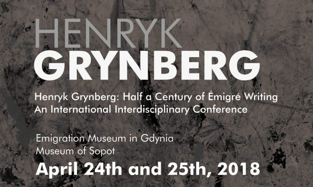 "Conference: ""Henryk Grynberg: Half a Century of Émigré Writing"""