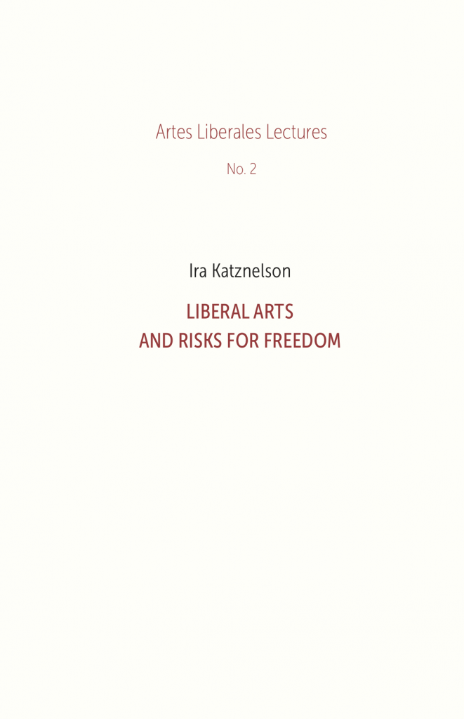 Book Cover: Liberal Arts and Risks for Freedom