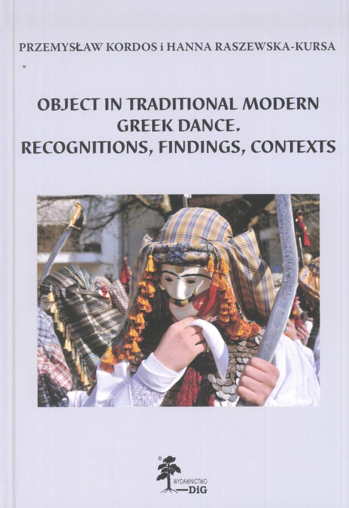 Book Cover: Object in Traditional Modern Greek Dance. Recognitions, Findings, Contexts