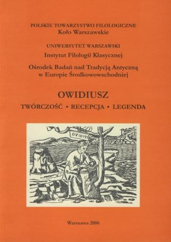 Book Cover: Owidiusz. Twórczość. Recepcja. Legenda