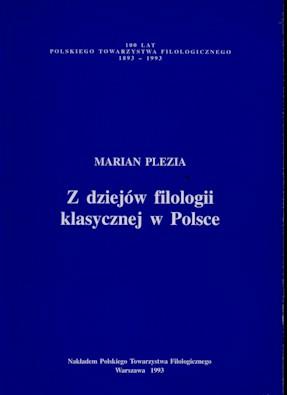 Book Cover: Z dziejów filologii klasycznej w Polsce