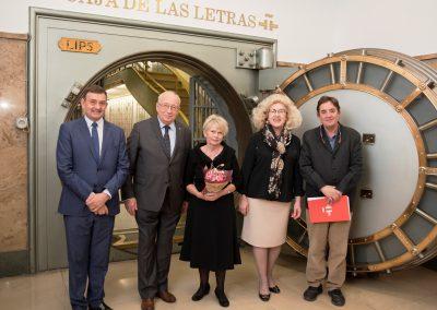Uczestnicy debaty Tribuna de Hispanismo Polaco, Instituto de Cervantes 13 listopada 2018 r. Od lewej: Richard Bueno Hudson, Jan Kieniewicz, Urszula Aszyk, Marzena Adamczyk, Luis García Montero