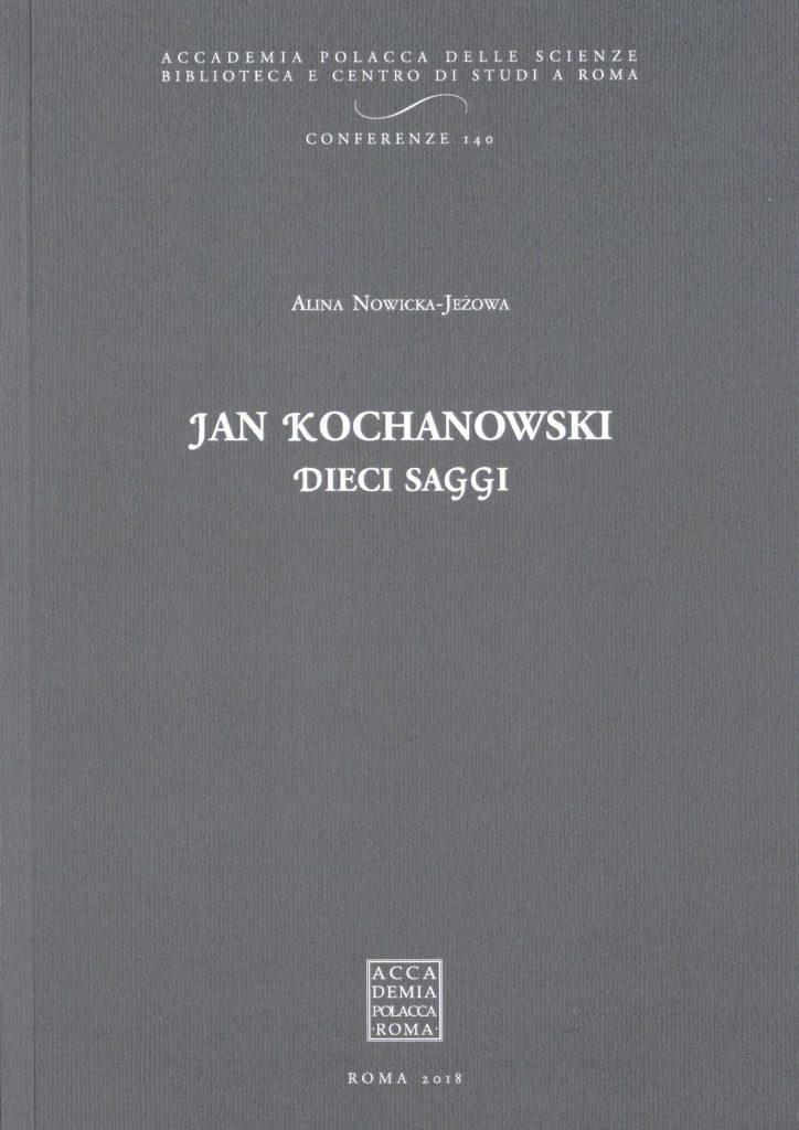 Book Cover: Jan Kochanowski. Dieci Saggi