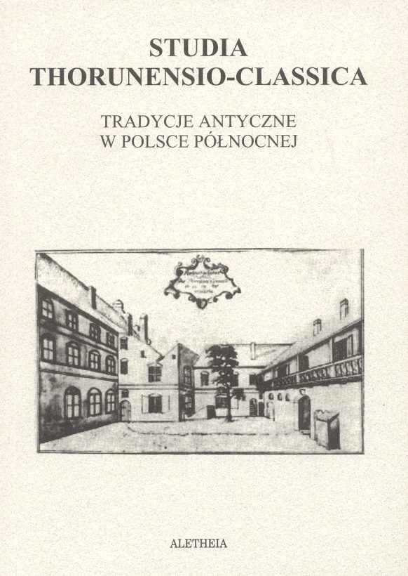 Book Cover: Studia Thorunensio-Classica. Tradycje antyczne w Polsce Północnej