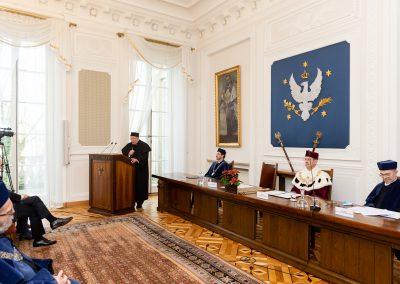 """Profesor Kieniewicz wygłasza wykład """"Odpowiedzialność historyka wobec przyszłości"""""""