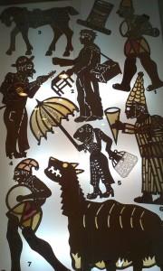 Fragment ekspozycji Muzeum Teatru Cieni w Marusi