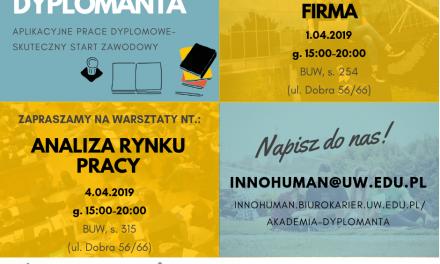 1–4 kwietnia: Warsztaty Akademii dyplomanta