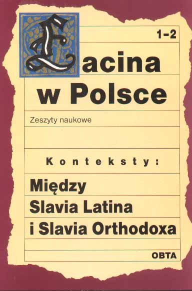 Book Cover: Konteksty: Między Slavia Latina i Slavia Orthodoxa