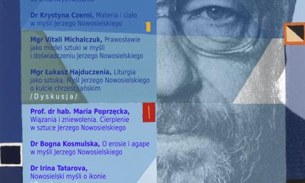 """29 maja, konferencja: """"Nowosielski myśli"""""""