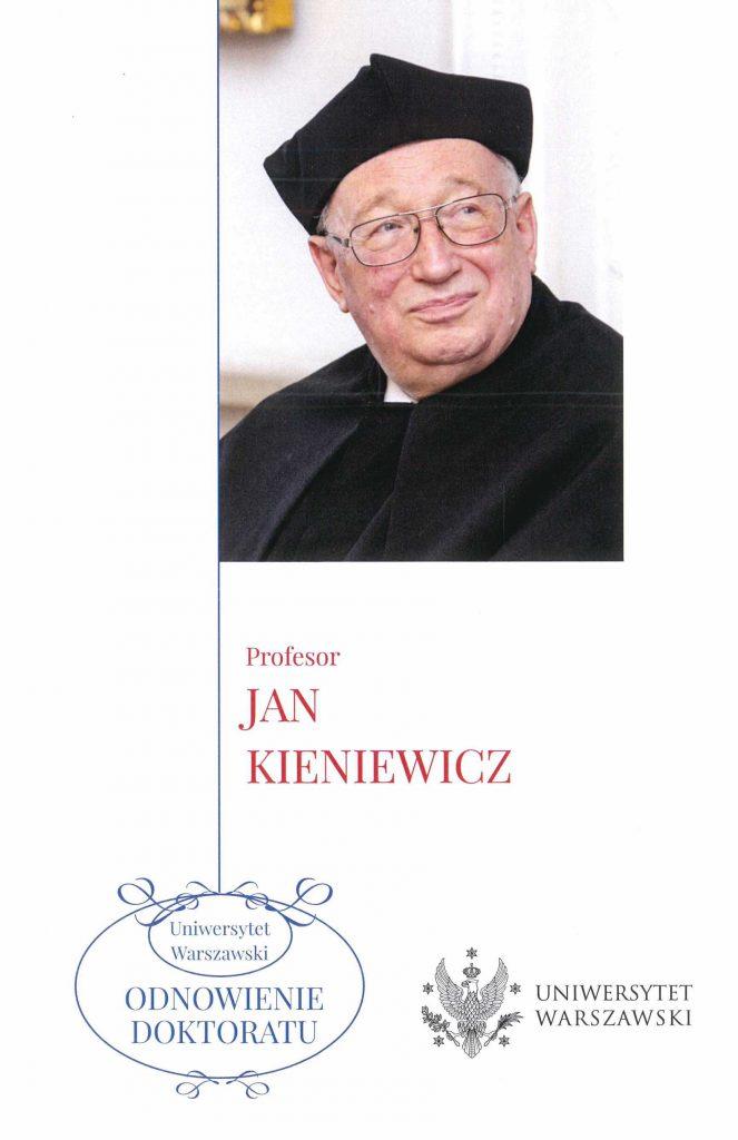 Book Cover: Uroczystość odnowienia doktoratu Uniwersytetu Warszawskiego prof. Jana Kieniewicza