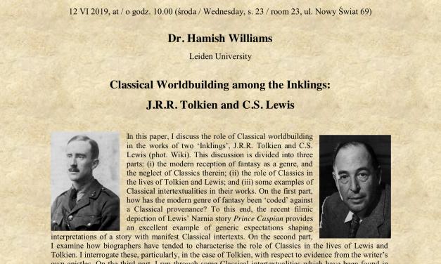 12 czerwca, Spotkania OBTymistów: dr Hamish Williams