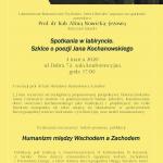 4 marca: spotkanie Laboratorium Romantycznego