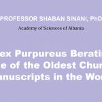 """Prof. Shaban Sinani: """"Codex Purpureus Beratinus…"""""""