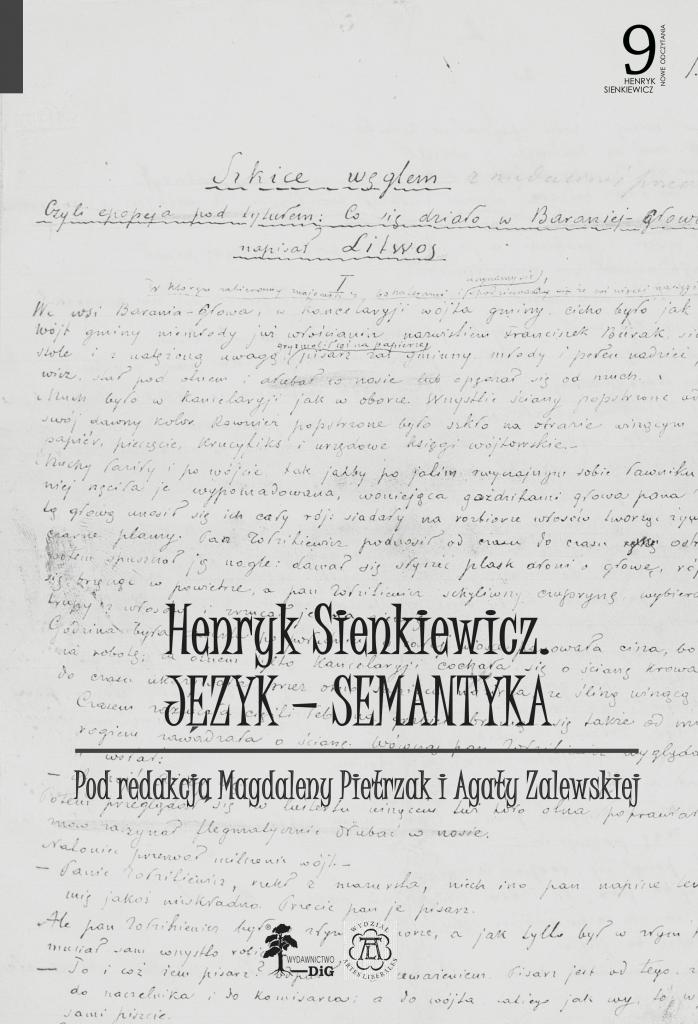 Book Cover: Henryk Sienkiewicz. Język – semantyka