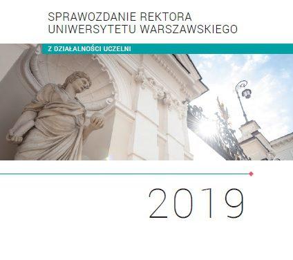Sprawozdanie rektora UW z działalności uczelni w 2019 r.