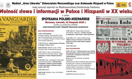 """III Spotkania Polsko-Hiszpańskie: """"Wolność słowa i informacji w Polsce i Hiszpanii w XX wieku"""""""