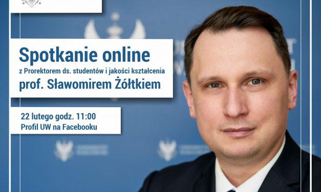 22 lutego: spotkanie online z prof. Sławomirem Żółtkiem, prorektorem UW