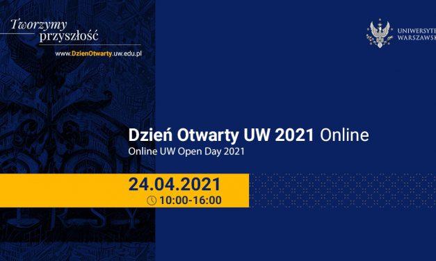 24 kwietnia: Dzień Otwarty UW 2021 Online
